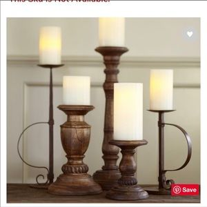Pottery Barn Oxford Wood Turned Candlestick